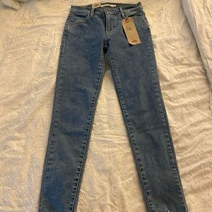 LEVIS distressed bottoms skinny fit
